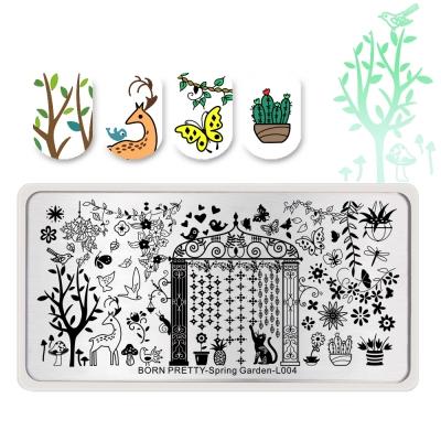 Spring Garden L004 Stamping Plate
