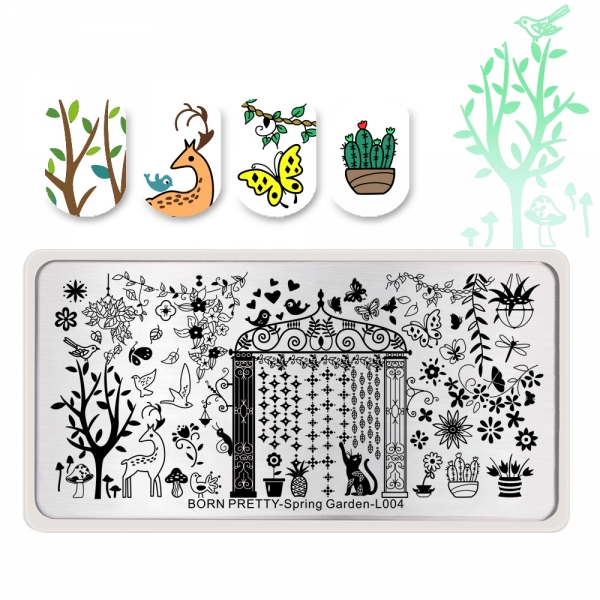 Spring Garden L004 Stamping Plate