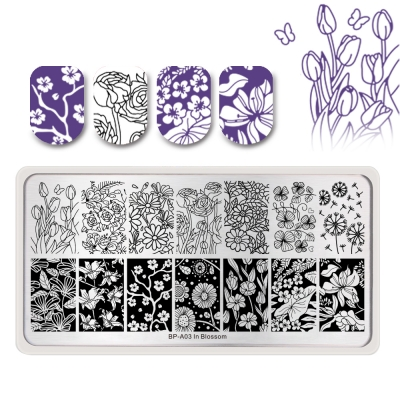 In Blossom BP-A03 Stamping Plate