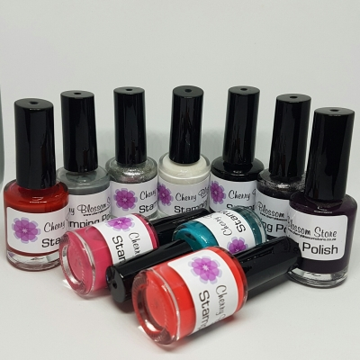 Cherry Blossom Stamping Polish set of 10 colours
