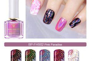 BP Holographic Stamping Polish - Pink Paradise