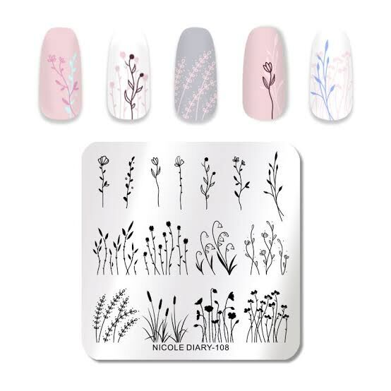 Nicole Diary 108 Stamping Plate